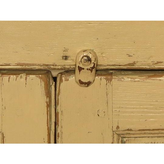 Early 19th Century Antique English Painted Four Door Cupboard For Sale - Image 5 of 6