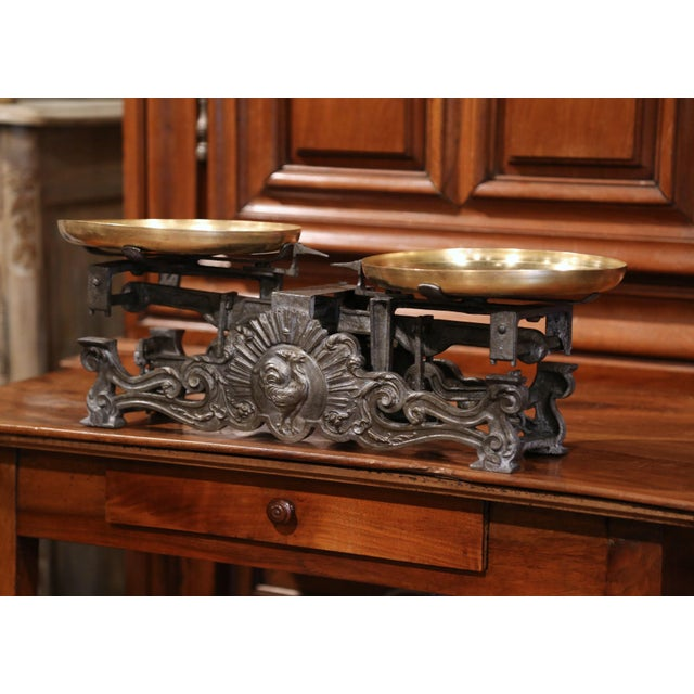 Add some European flair to your kitchen counter with this elegant antique scale from France. Crafted circa 1870, the piece...