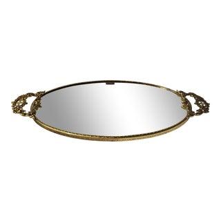 Vintage Matson Ormolu Gold Vanity Table Mirror For Sale