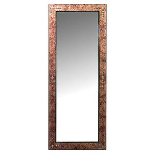 Mid 20th Century Biedermeier Style Burl Ash Wall Mirror For Sale