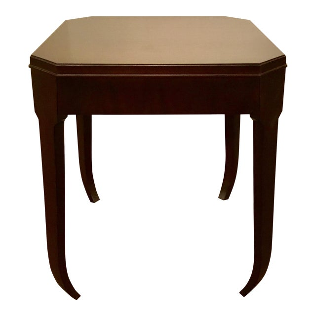 Hickory Chair Modern Wabi Wood Side Table For Sale