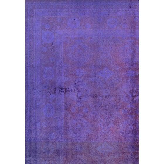 Overdyed Purple Wool Area Rug - 9′10″ × 13′6″ - Image 2 of 2