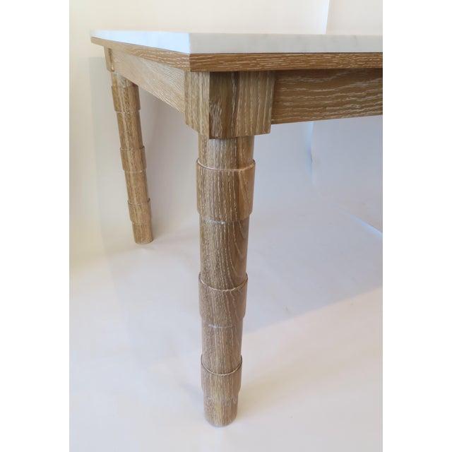 Martin & Brockett Cersued Oak & Marble Dining Table - Image 5 of 6
