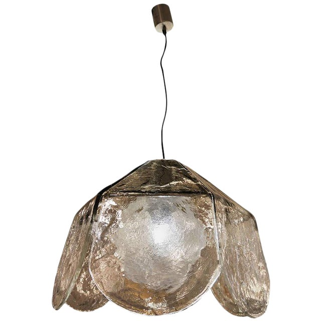 Large Carlo Nason for Mazzega Chandelier For Sale