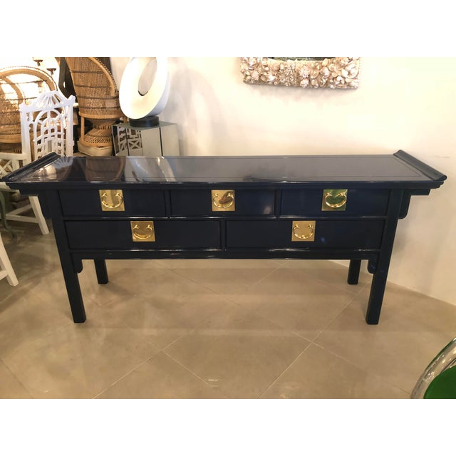 Vintage chinoiserie Pagoda console table by Century Furniture. This has been completely restored. Professionally lacquered...