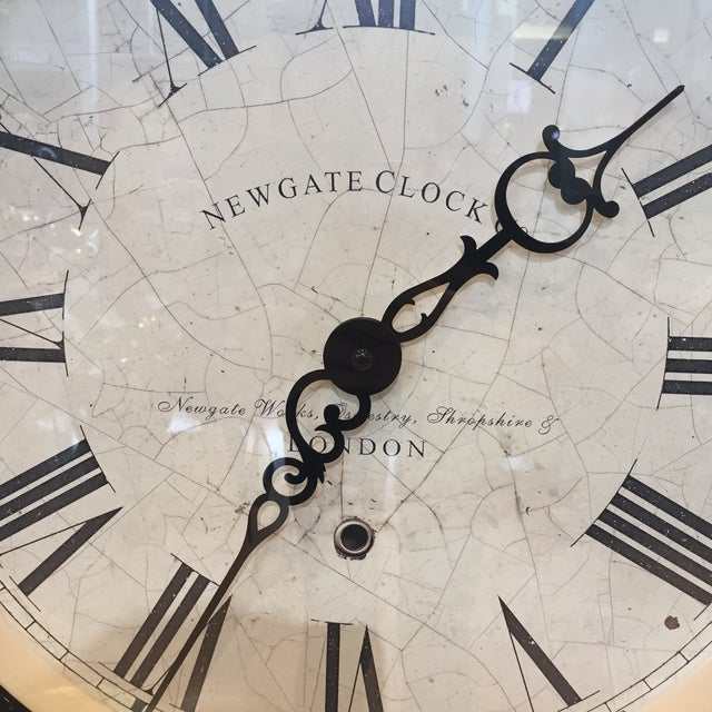 Traditional Newgate Clock Co. British Vintage Style Wall Clock For Sale - Image 3 of 4