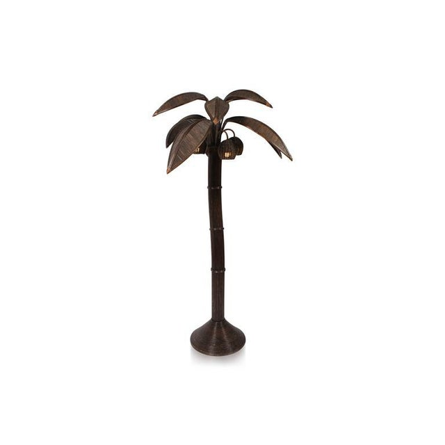 743831e4e811a Wicker Mario Lopez Palm Tree Floor Lamp For Sale - Image 7 of 8