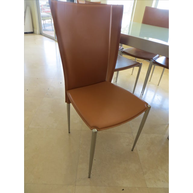 Calligaris Extendable Tempered Glass Dining Set - Image 11 of 11