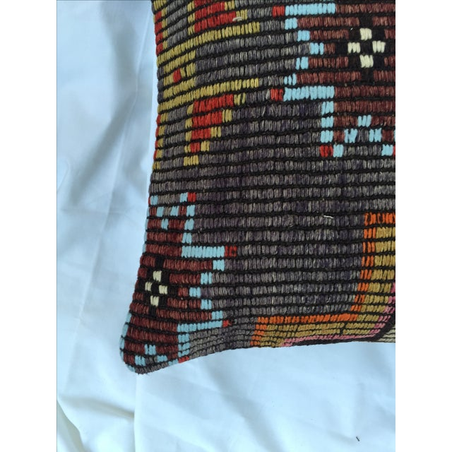 1990s Southwestern Woven Kilim Pillow For Sale - Image 5 of 7