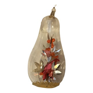 1970s Vintage German Partridge in a Pear Tree Glass Christmas Ornament For Sale