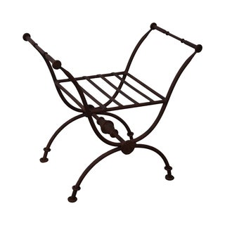 Quality Heavy Iron X-Base Curule Regency Bench For Sale