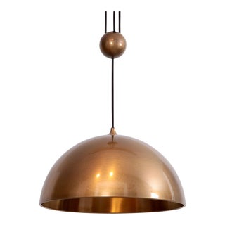 Florian Schulz Posa Centerweight Pendant Light in Brass, Germany For Sale