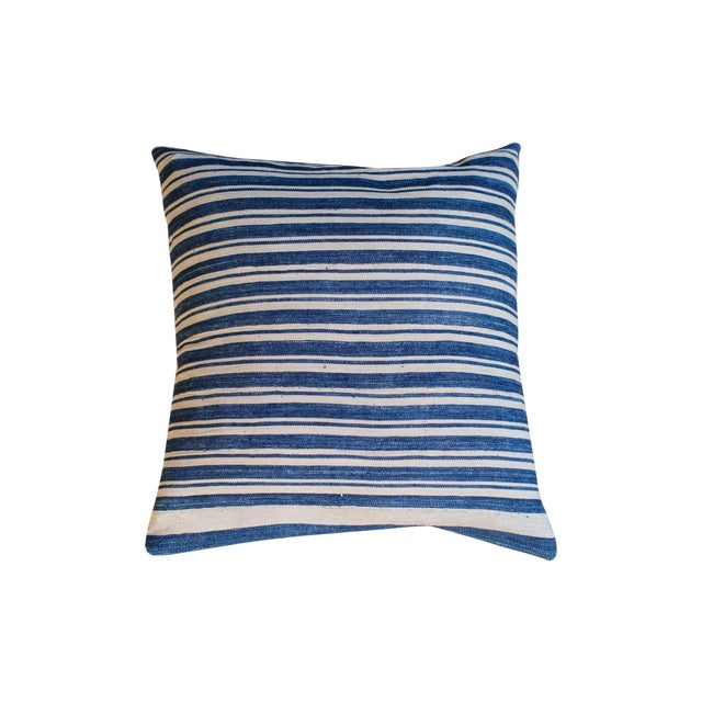 Oversize Indigo Blue Pillow - Image 1 of 6