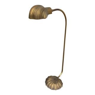 Vintage Brass Stiffel Shell Floor Lamp