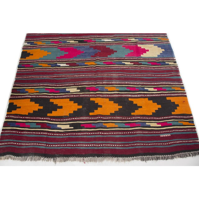 "Turkish Kilim Flat-Weave Runner Rug - 6'2"" x 14' - Image 6 of 8"