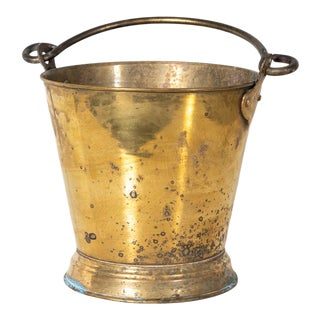Antique Brass Bucket For Sale