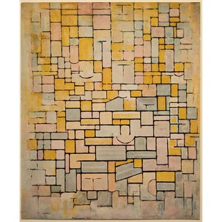 """1958 After Piet Mondrian """"Composition N7 (Facade)"""" Vintage Full Color Print From England For Sale"""