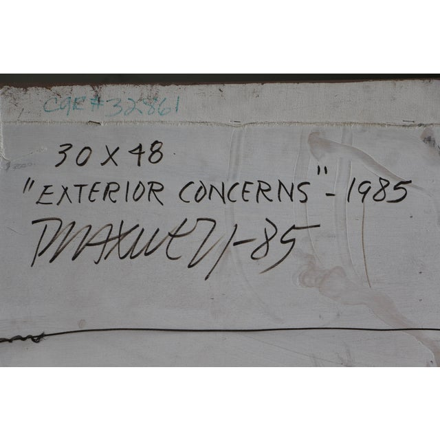 """1985 """"Exterior Concerns"""" Painting by Paul Maxwell For Sale - Image 9 of 11"""
