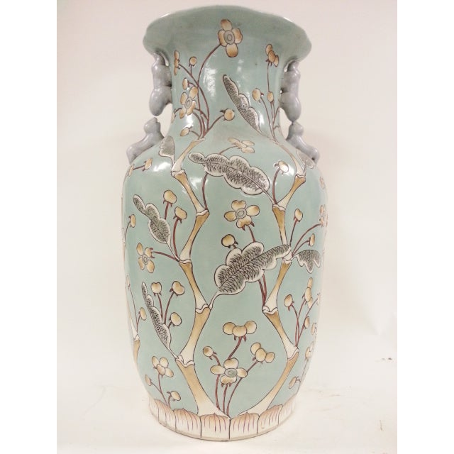 Chinese Vintage Bird & Flower Porcelain Vases - A Pair - Image 3 of 6