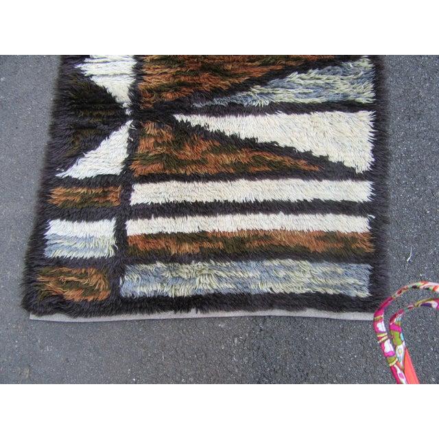 "Swedish Rya Carpet -- 3'1"" x 4'9"" - Image 4 of 10"
