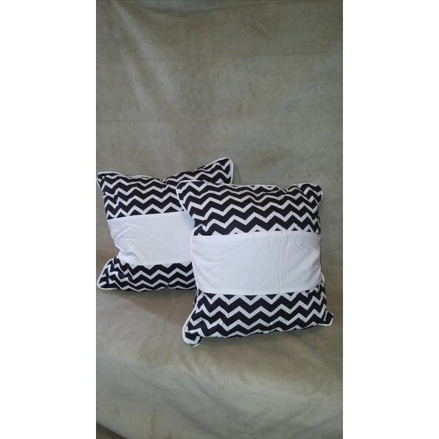 Daring Chevron Pillows - Pair - Image 2 of 4
