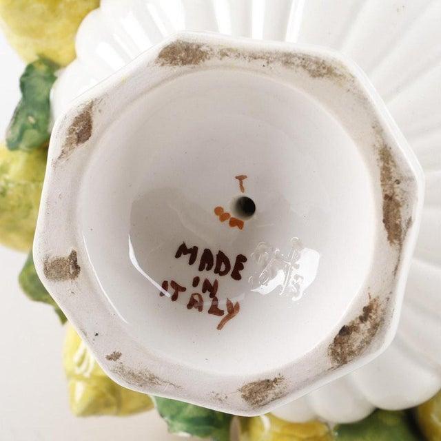 Vintage Mid-Century Italian Ceramic Lemon Centerpiece For Sale - Image 10 of 11