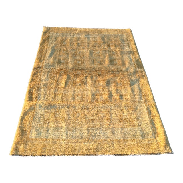 Persian Vintage Sultanabad Rug - 4′ × 5′8″ - Image 1 of 11