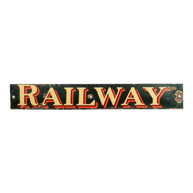 Vintage British Railway Sign For Sale