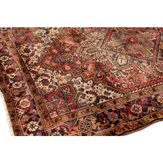 """Textile Vintage Persian Rug, 6'5"""" X 8'9"""" For Sale - Image 7 of 9"""