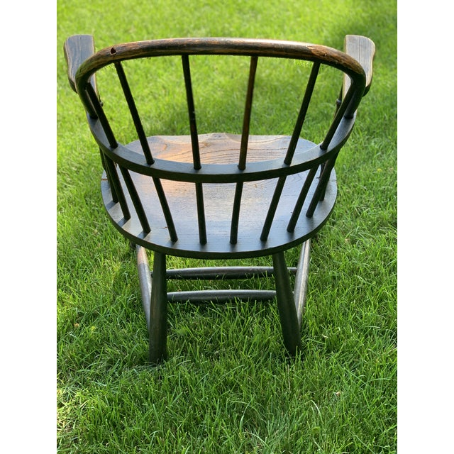 1900 - 1909 Wooden Windsor Firehouse Chair For Sale - Image 5 of 13