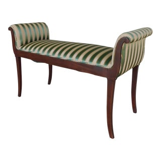 "Antique Hepplewhite Style Mahogany Bench - Settee 44""w For Sale"