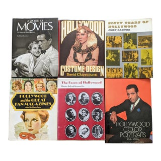 1960s Collection of Hollywood Themed Books - Set of 6 For Sale