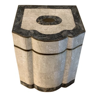 Mainland Smith Tessellated Stone and Brass Lidded Letter Box For Sale