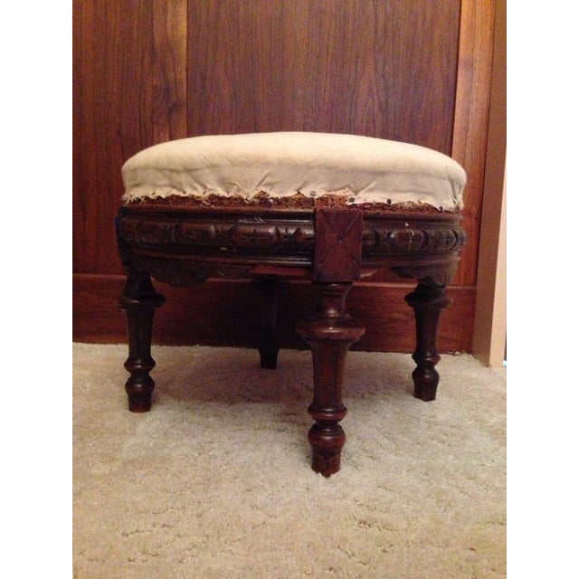 Antique Spanish Baroque-Style Ottoman - Image 2 of 3