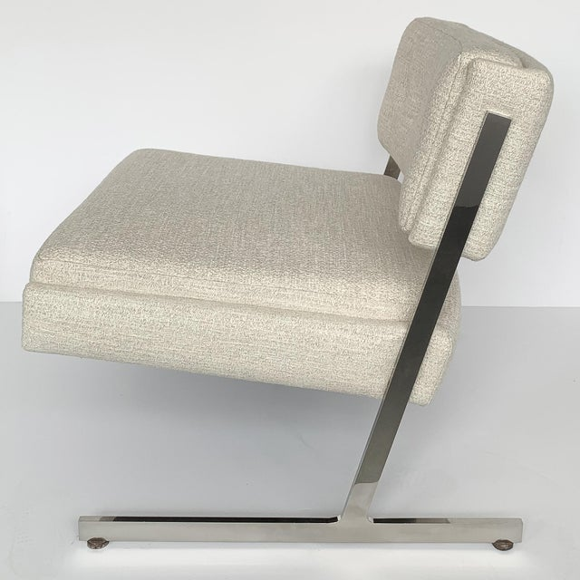 Metal Pair of Harvey Probber Cantilever Slipper Lounge Chairs For Sale - Image 7 of 13