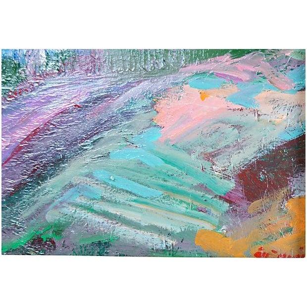 Modern Juan Guzman Riverside Painting For Sale - Image 3 of 4