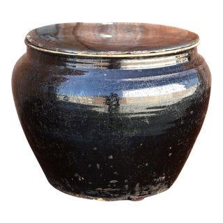 Antique Lidded Martaban Vase For Sale