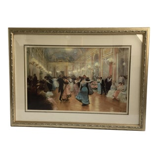 Print 'The Ball' by Victor Gilbert in Ornate Frame For Sale