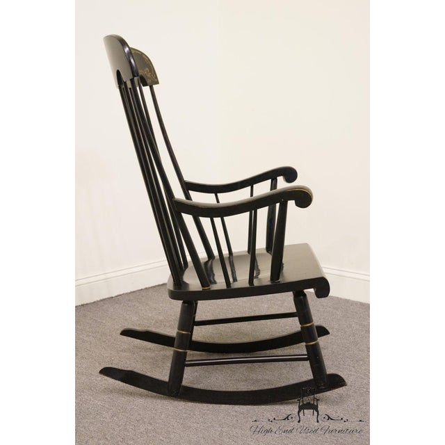 Black Tell City Black and Gold Hitchcock Style Rocking Chair For Sale - Image 8 of 10