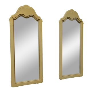French Painted Pair of Wall Bathroom Dresser Vanity Mirrors For Sale