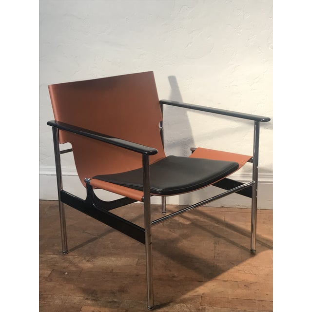 Metal Charles Pollock for Knoll 657 Sling Lounge Chairs- a Pair For Sale - Image 7 of 12