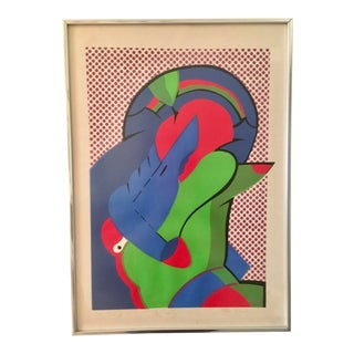 Mid Century Modern Pop Art Signed and Numbered Print by Peter Greenbilt For Sale