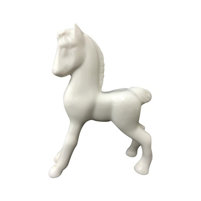 Shenango 1910 China White Ceramic Horse For Sale