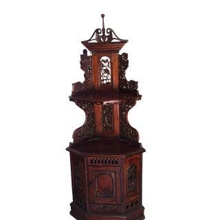 Vintage Asian Corner Cabinet For Sale