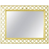 Image of Italian Gilt Wood Lattice Frame Mirror For Sale