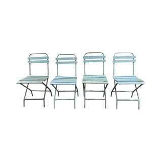 Vintage European Metal Dining Chairs- Set of 4 For Sale
