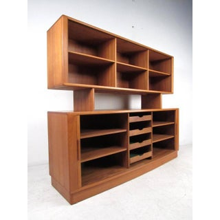 Vintage Modern h.p. Hansen Teak Sideboard With Top Bookcase Display Preview