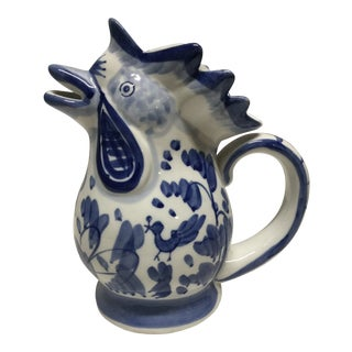 Chinoiserie Chicken Pitcher For Sale