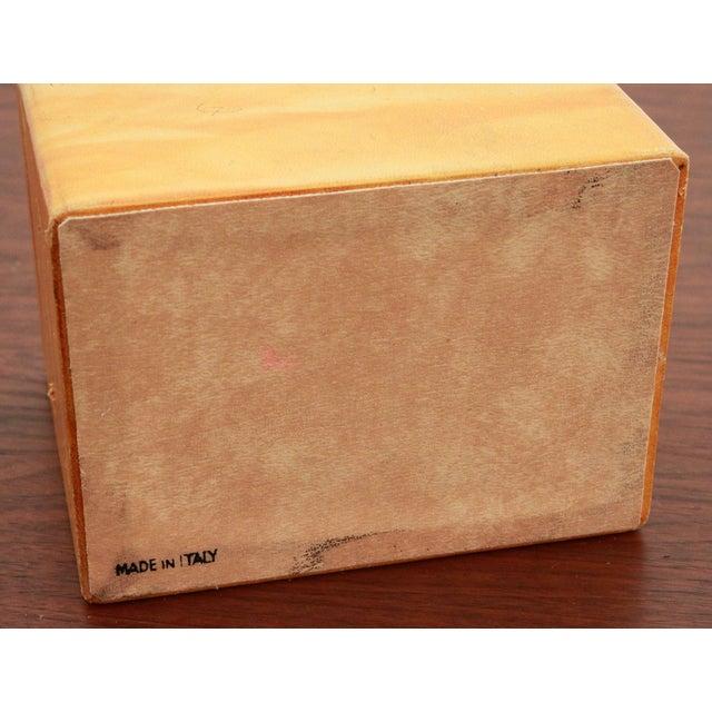 Vintage Leather & Burlwood Trinket Box For Sale In Providence - Image 6 of 7