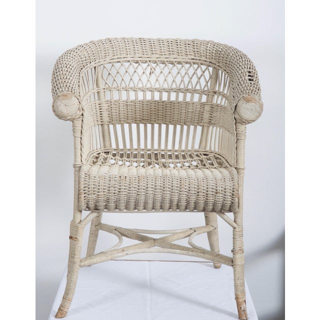 Rare Vienna Secession Wicker Armchairs by Hans Vollmer for Prag-Rudniker For Sale - Image 11 of 11